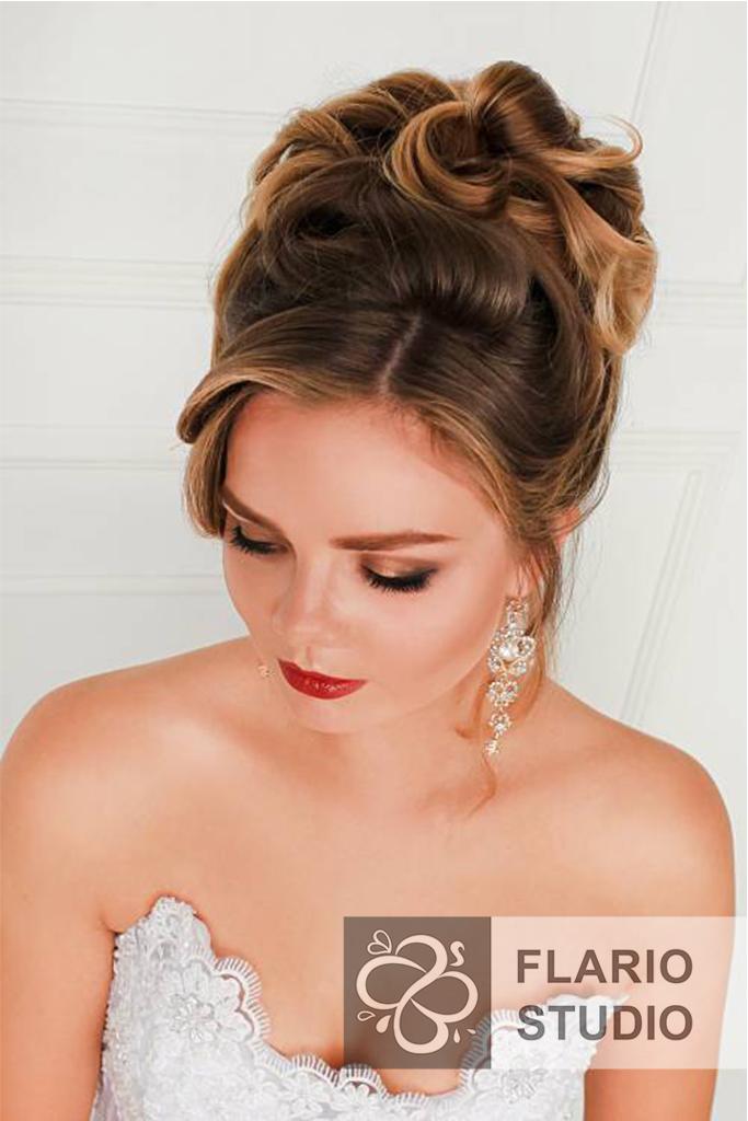 Свадебный макияж 2017 прическа
